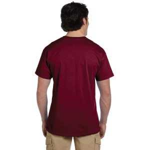 Fruit of the Loom HD Cotton Adult T-Shirt Model Back