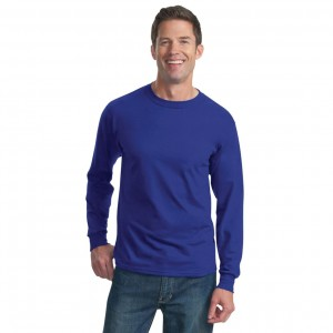Fruit of the Loom HD Cotton Long Sleeve T-Shirt Model Front
