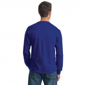 Fruit of the Loom HD Cotton Long Sleeve T-Shirt Model Back